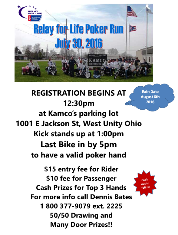 July 30th Kamco Poker Run