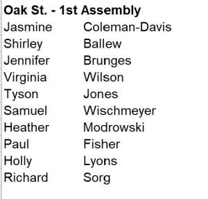 oak street assembly